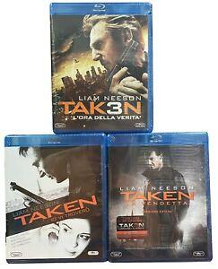 3-Blu-ray-TAKEN-1-2-3-IO-VI-TROVER-LA-VENDETTA-L-039-ORA-DELLA-VERITA-trilogia