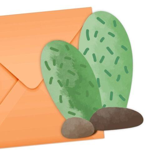 """Kindergeburtstag und Mottopartys 6 Einladungskarten /""""Kaktus/"""" f"""