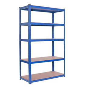 Heavy-Duty-Metal-5-Tier-Boltless-Shelving-Racking-Blue-1800mmx900x450mm-DCUK