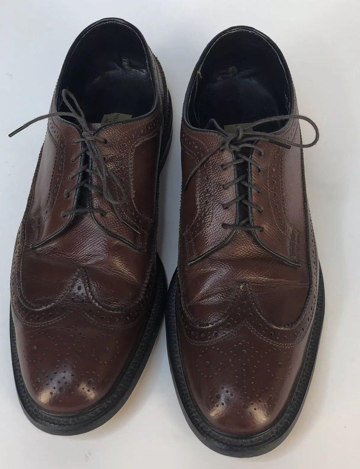 Stuart Mcguire de cuero marrón de hombre de extremo de ala Vestido Oxford Zapatos  2 D