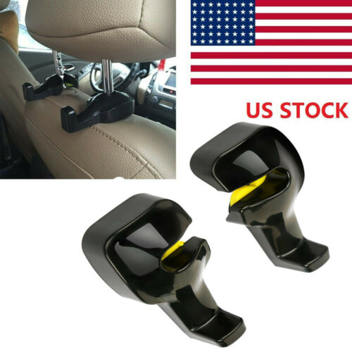 Universal Car Vehicle Back Seat Headrest Hanger Holder Hook 2pcs for Bag Purse