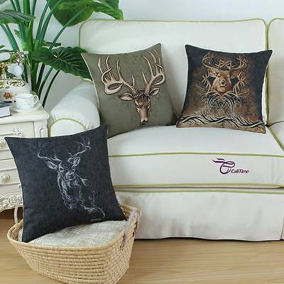 "Euphoria Buck Smoke 'Em Deer Moment of Truth Cushion Throw Pillow Covers 18""X18"""