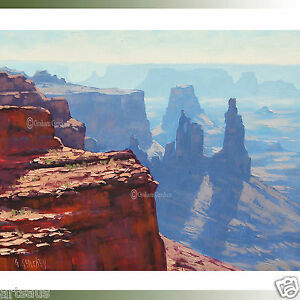 CANYON-PAINTING-DESERT-Landscape-Painting-Southwestern-by-listed-Artist-Gercken