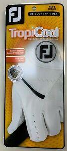 2021 FJ FootJoy TropiCool ( Use to be StaCool ) Men's Summer Golf Glove White