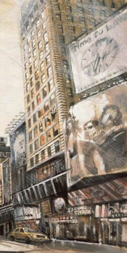 Times Square III Keilrahmen-Bild Leinwand New York Taxi urban Matthew Daniels