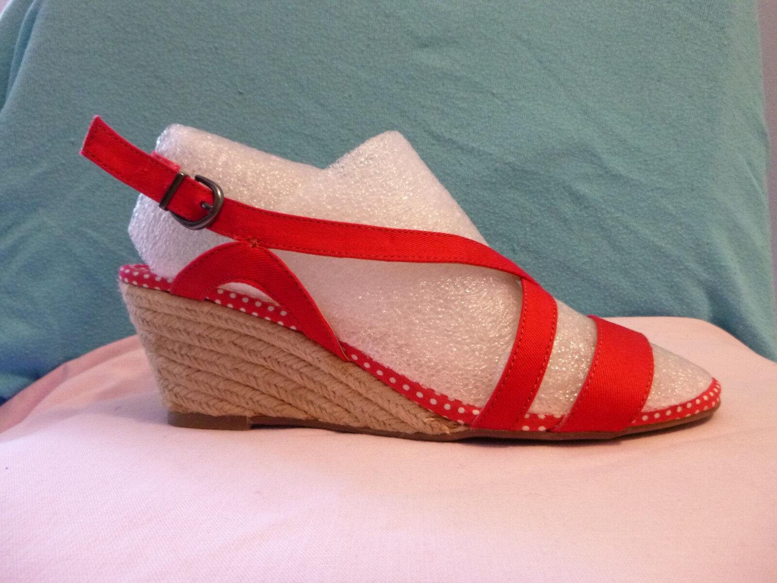 Novedad  Görtz zapatos-roja decorado textil 38 ancho-g abs-6, 5