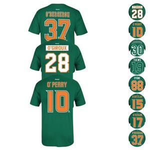 4d2acb5bc NHL Reebok O'Irish St. Patricks Day Player N&N Jersey Short Sleeve T ...