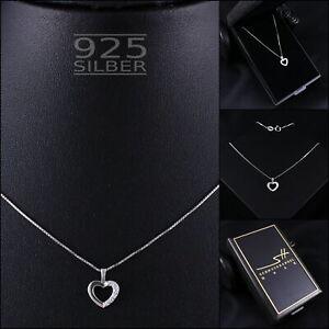 Herzkette-Herz-Halskette-925-Sterling-Silber-Damen-Swarovski-Kristalle-ETUI