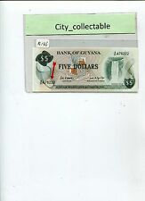 WORLD BANK NOTE - GUYANA $5 WATER FALLS UNC NICE NO. A/32 476222 # B136