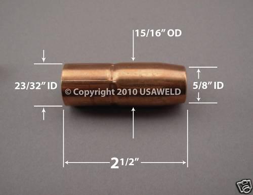 2 169 726 MIG Gas Nozzles Nozzle Miller 169726 M-25