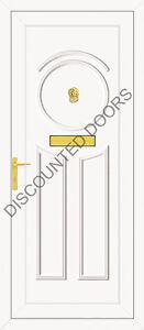 Minova UPVC Front Door Non Glazed, Frame & Letterbox