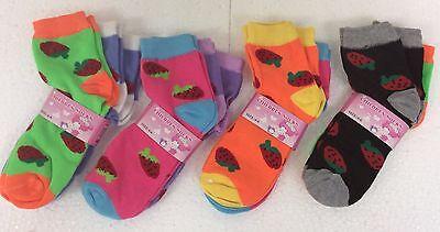 Lot of 12 Pairs Boys Girls Kids Socks White Low Cut Sock Size 4-6 New
