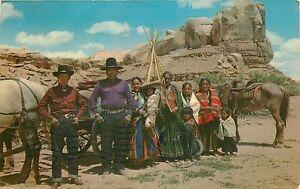 NAVAJO-FAMILY-RESERVATION-NEW-MEXICO-ARIZONA-POSTCARD-PM-1963