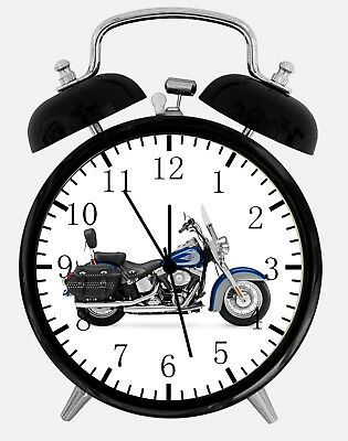 "American Motorcycle Alarm Desk Clock 3.75"" Home Office Decor Y126 Nice For Gift"