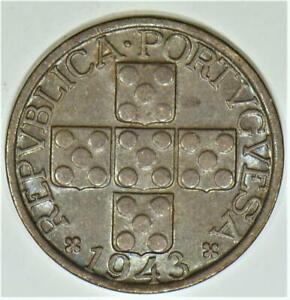 1943-Portugal-Twenty-Centavos-Choice-AU