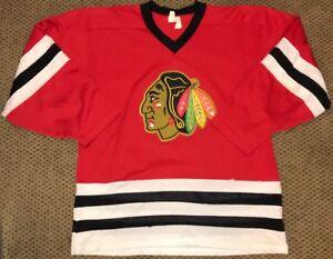 Vintage-CCM-NHL-Chicago-Blackhawks-Hockey-Jersey-Size-Adult-Large