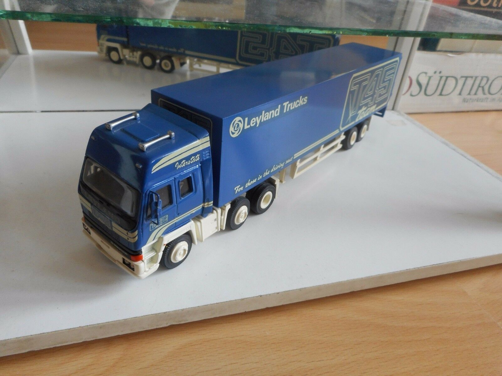 Smith Models Leyland 320 Chargecooled + Trailer  T45 Team  in blu on 1:50