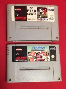FIFA-International-Soccer-amp-Striker-Cartridges-Only-Nintendo-SNES-PAL-TESTED