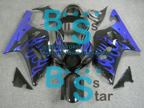 Blue Flames GSX-R600 Fairing For SUZUKI GSXR600 GSXR750 2001-2003 013 B6