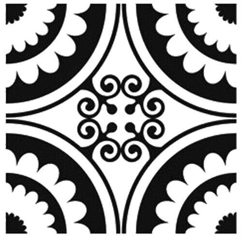 SQUARE BAROQUE MANDALA Moroccan Tile Reusable Stencil A3 A4 A5 Shabby Chic B17