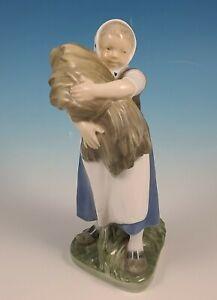 Royal-Copenhagen-908-Girl-with-Sheaf-of-Wheat-Figurine