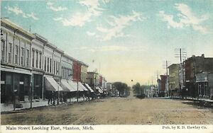 Stanton Michigan Main Street East Awnings On Storefront