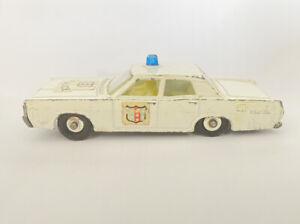 Matchbox Ruedas regulares Nº 55/73 Mercury coche de policía LUZ AZUL (899)