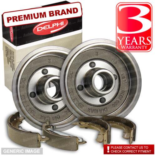 Brake Drums Full Axle Set 228mm Fiat Punto 1.3 JTD 16V Rear Delphi Brake Shoes