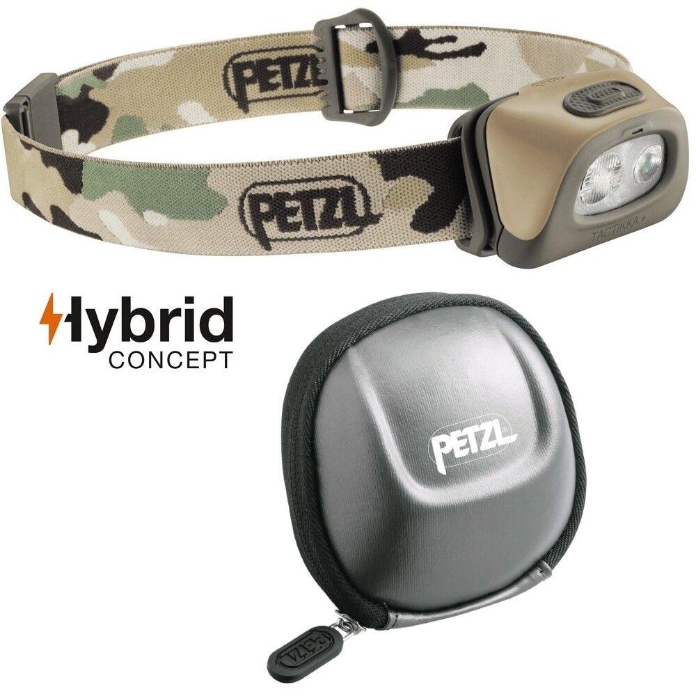 Petzl Tactikka+ Lampe Frontale Camouflag - Max. 250 Lumen Incl. Petzl Poche Sac