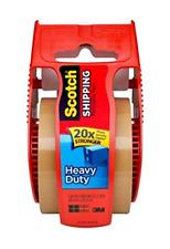 Scotch Heavy Duty Shipping Packaging Tape 2 X 800 Tan 3 Count