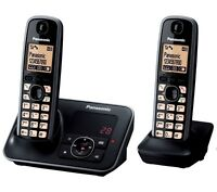 Panasonic KX-TG6622EB Cordless Phone with Answering Machine (Twin Handsets)