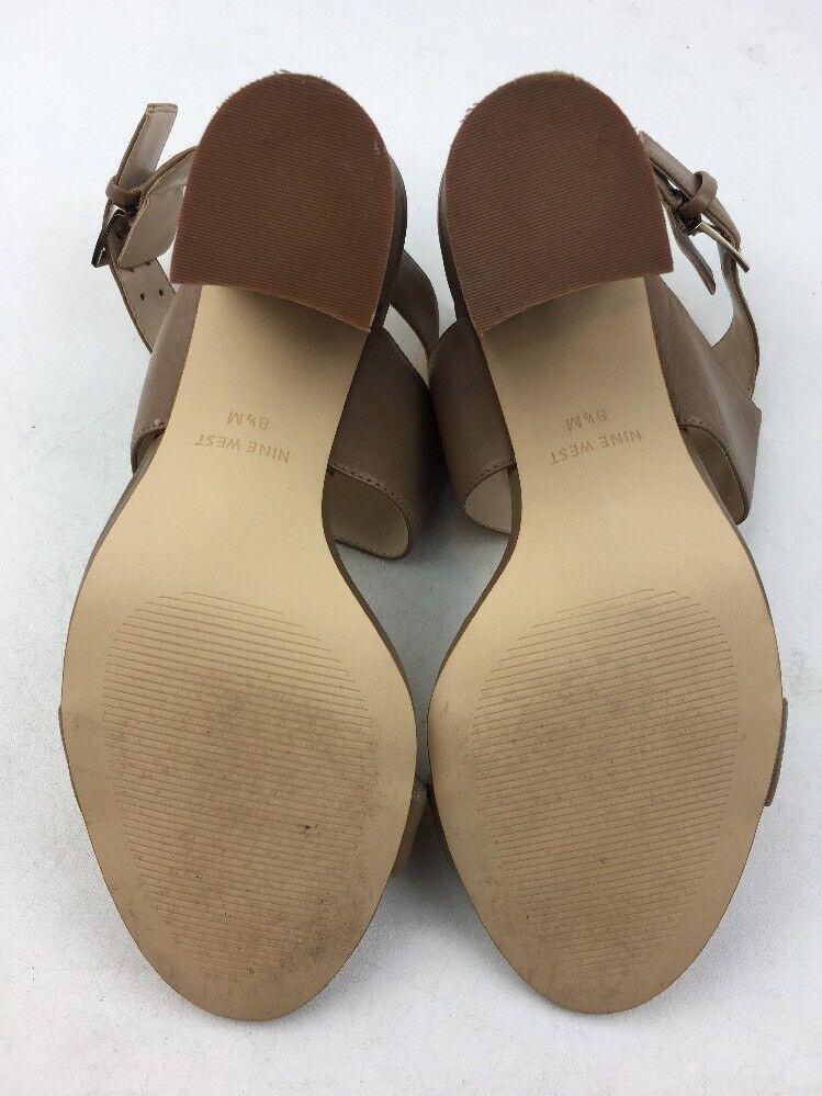 Nine West West Nine Damen Brynlee Kleid Ferse Sandalen Größe 8.5, Beige Leder 782 7b85e7
