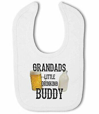 Grandads Little Drinking Buddy funny beer Baby Bandana Bib