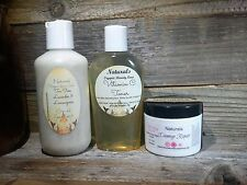 3 Piece Facial Care Kit - Oatmeal Scrub, Vitamin C Toner, Anti Aging Night Cream