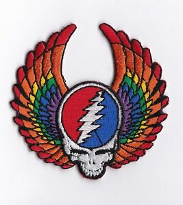 GRATEFUL-DEAD-STEAL-YOUR-FACE-WITH-WINGS-IRON-or-SEW-ON-PATCH