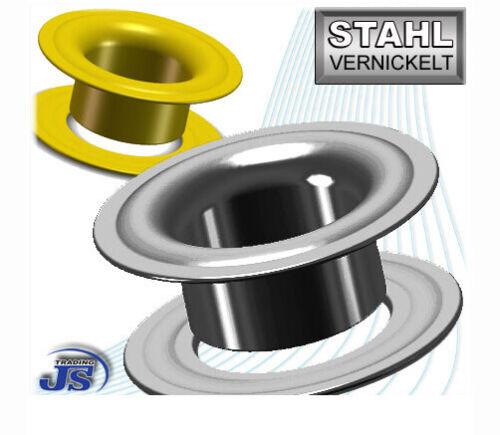 PVC-Banner Stahl Ösen 100 Stück selbstschneidend 15mm