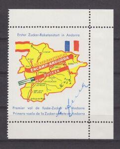 Andorra-Raketenpost-Vignette-zum-034-Ersten-Zucker-Raketenstart-in-Andorra-034-1962