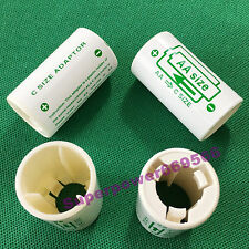 4pc AA size to C type converter spacer adapter LiFePO4 Li-ion Ni battery holder