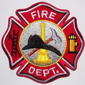 fire department patch fireman badge 3 1 2 inches black hat ebay