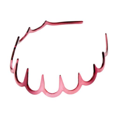 Plastic Wave Hair Band Comb Headband 11cm with Deep Teeth Hair Accessories