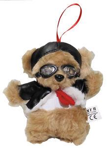 MFH Pilotenbär mit Fliegerbrille 14cm Teddy Teddybär Kuscheltier Plüschtier