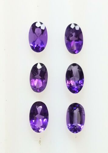 Natural Amethyst 5x3 MM Oval Cut Rich Color SI Clarity AA Loose Gemstone