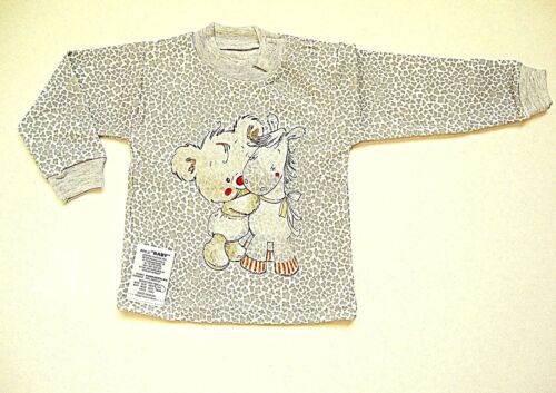 up to 3 years 100/% SOFT COTTON UNISEX BABY TODDLER T-SHIRT GREY CUTE APPLIQUE