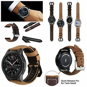 22mm Leather Watch Band Strap For Samsung Gear S3 Frontier Classic Fossil R800