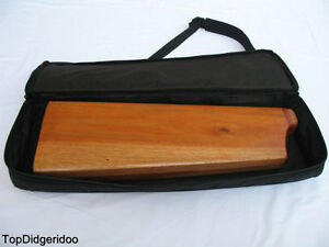 Z-Form Didgeridoo Tasche Einzigartig Handgeschnitzt Mahagoni Hartholz Reise