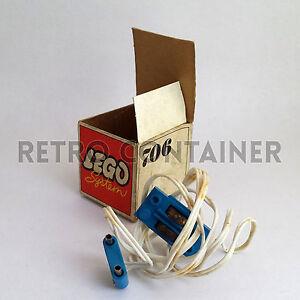 LEGO-NEW-Set-100-Completo-con-Scatola-706-Rail-Contact-Wires-MIB-1969