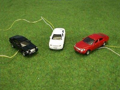 B43 H0 3 Pz Auto Automobili Con Illuminazione A Led Anteriore + Posteriore 12-19v Illuminato-mostra Il Titolo Originale