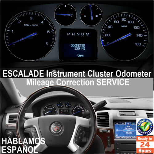 CADILLAC ESCALADE 2003-2014 Instrument Cluster Mileage Correction Service
