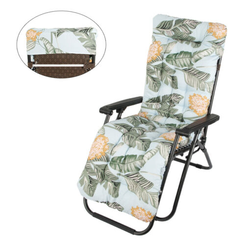 Replacement Sun Lounger Cushion Pad Garden Outdoor Chair Seat Recliner Cotton UK