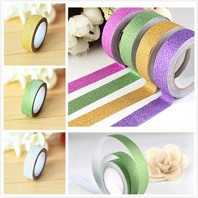 Scrapbooking Adhesive Paper 5m Craft Glitter Washi Tape Book Decor DIY Sticker